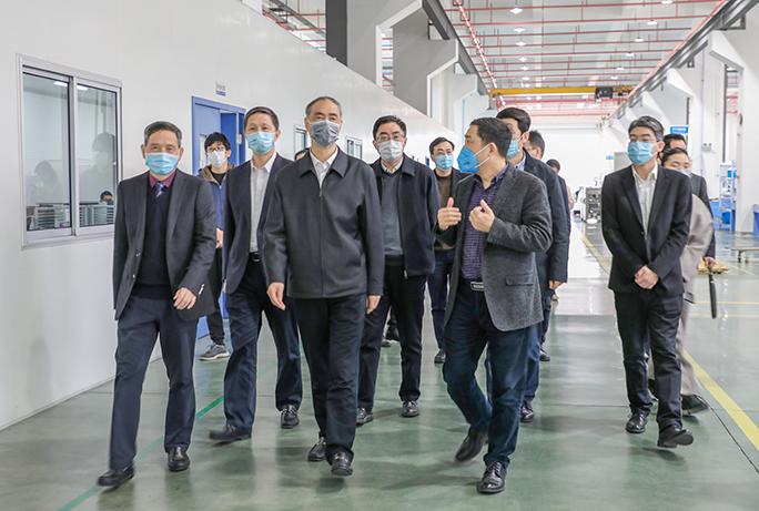 杭州市领导张仲灿一行赴泰林生物调研